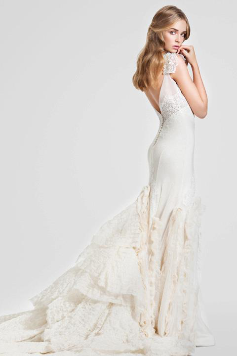 LOVE The Bottom Of This Dress With Different Textures And Fabrics