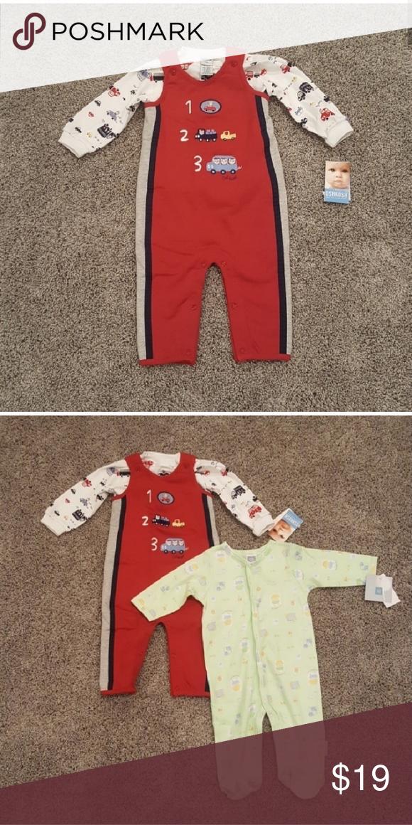 Oshkosh Trucks/Cars 2pc Outfit NWT Oshkosh 2pc Outfit •Red