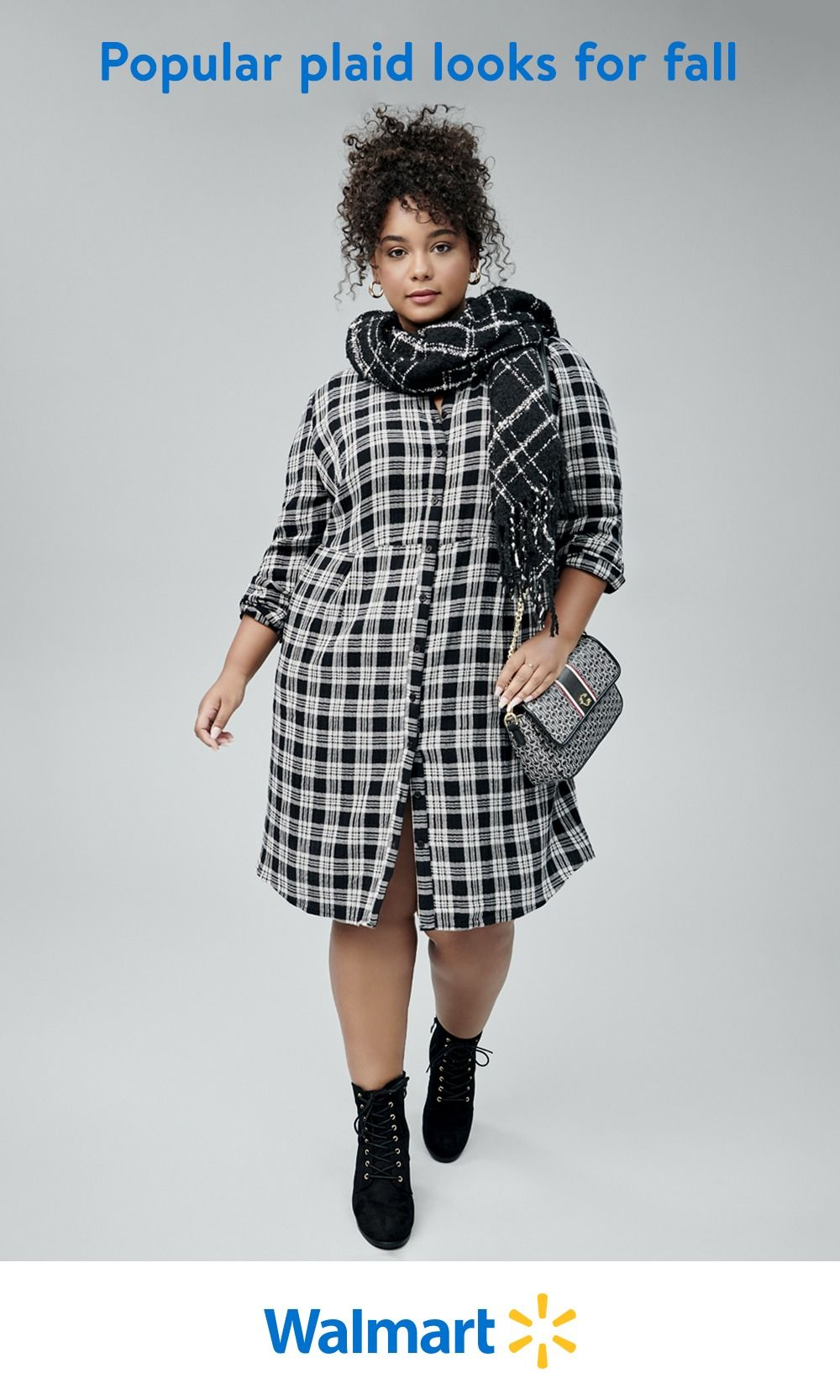 Find fashionable plaid outfits and accessories at Walmart. From buffalo check to tartan and everything in between, we've got patterned looks you'll love.