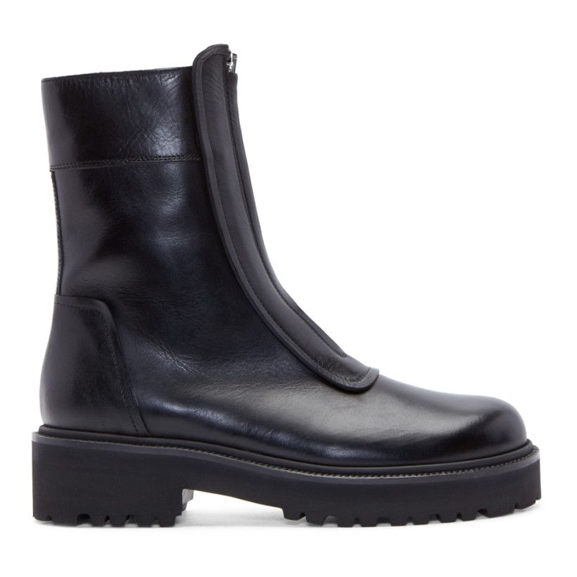 MM6 Maison Martin Margiela Black Cowboy Ankle Boots find great sale online nKSsZjyfr