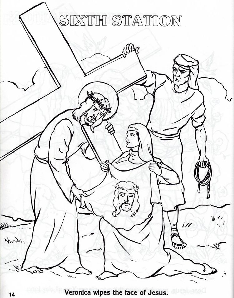 Stations Of The Cross Coloring Pages Cross Coloring Page