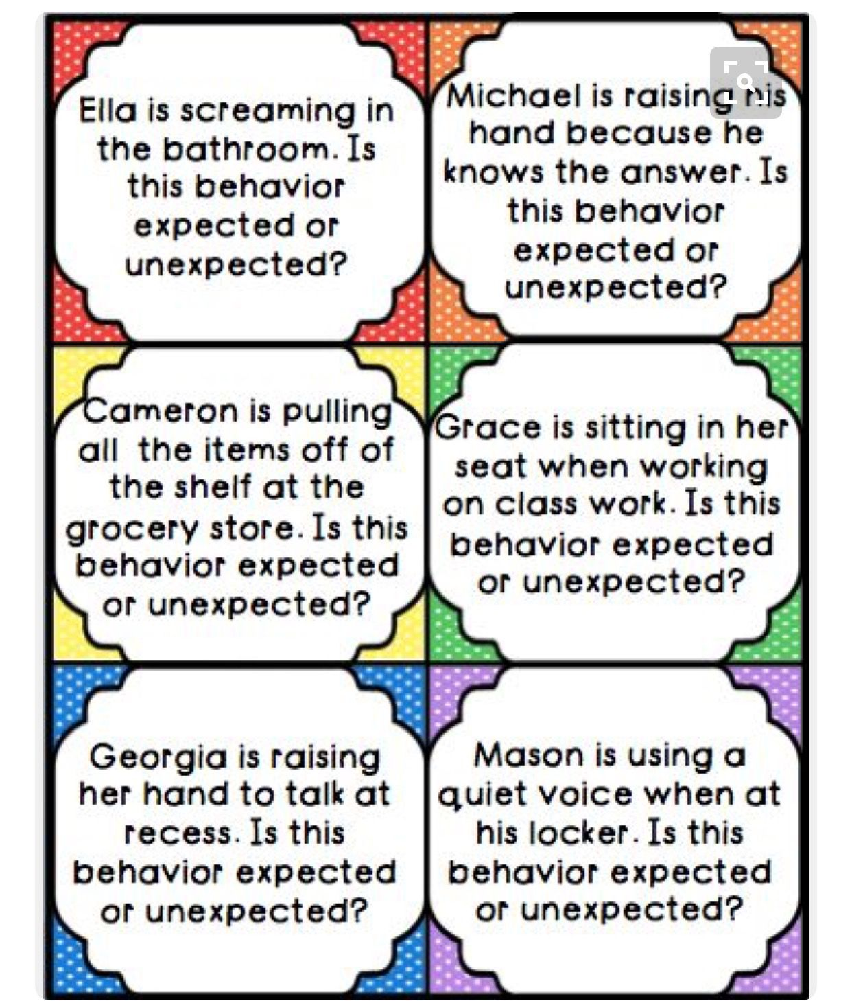 worksheet Expected And Unexpected Behaviors Worksheet pin by caitlin s on behaviour management pinterest behavior task cards and an activity to help students learn expected unexpected behaviors