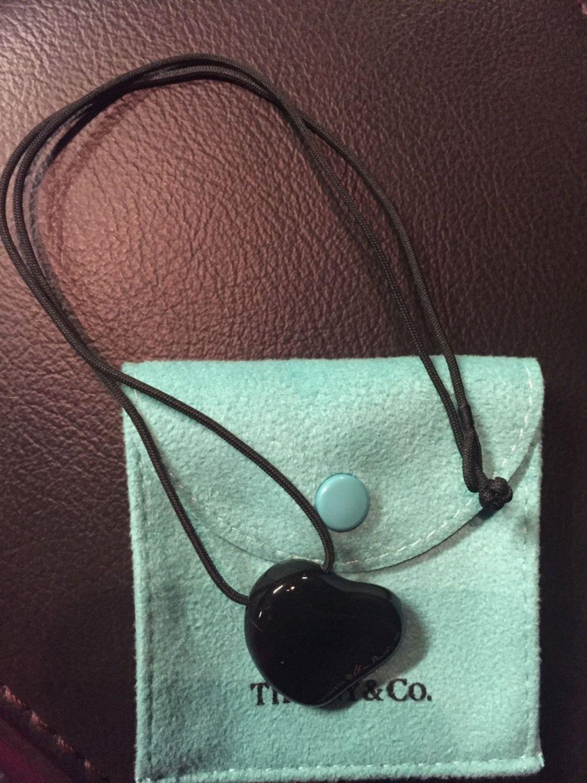 94e7c3180cd Tiffany   Co. Elsa Peretti Full Heart Black Pendant In Ruthenium (part of  the platinum family) - Never Worn by Tiffanytreasureshop on Etsy