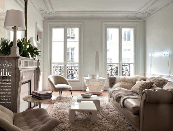 home tour :: modern neutrals in a paris apartment | living rooms