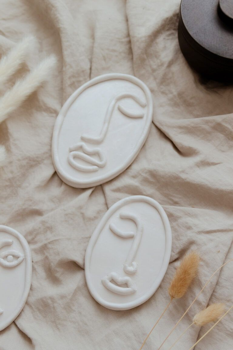 DIY Line Art Skulpturen aus Modelliermasse