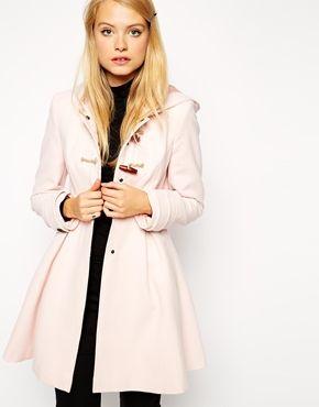 Bilder Verkauf Wirklich Ausgestellter Dufflecoat - Rosa Asos Die Günstigste Günstig Online p9lzjDm7W
