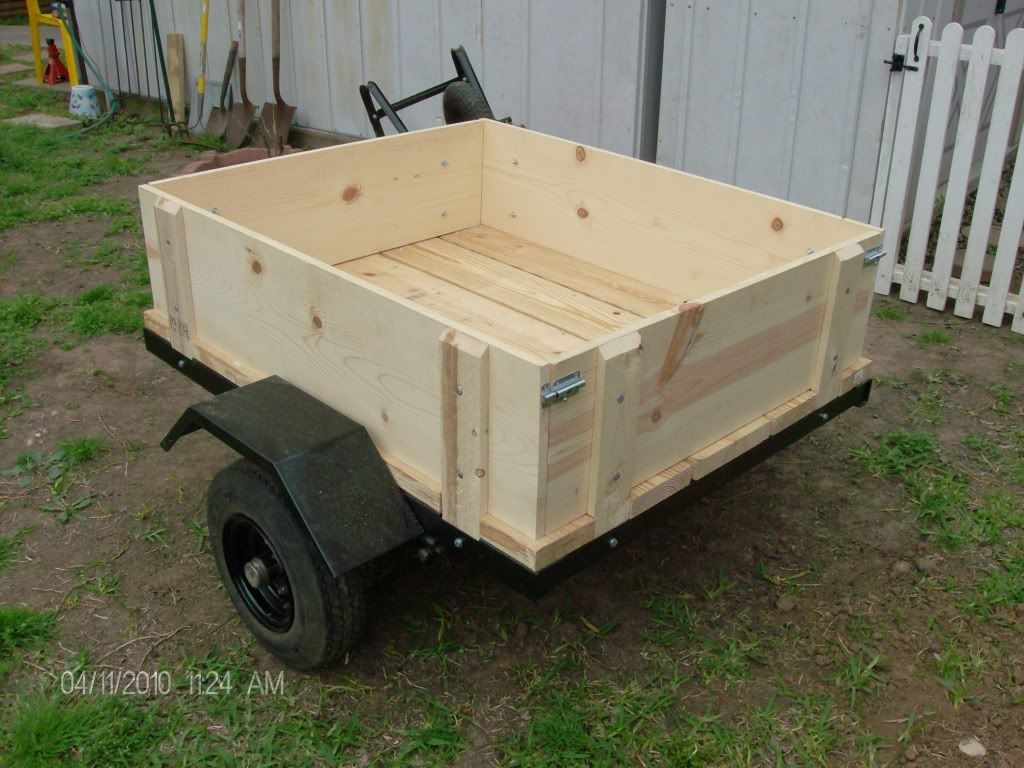 Utility trailer build trailer off road for Wood floor utility trailer