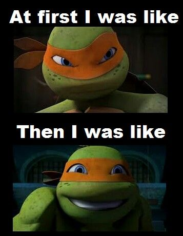 This is me when I first watched TMNT D Teenage Mutant