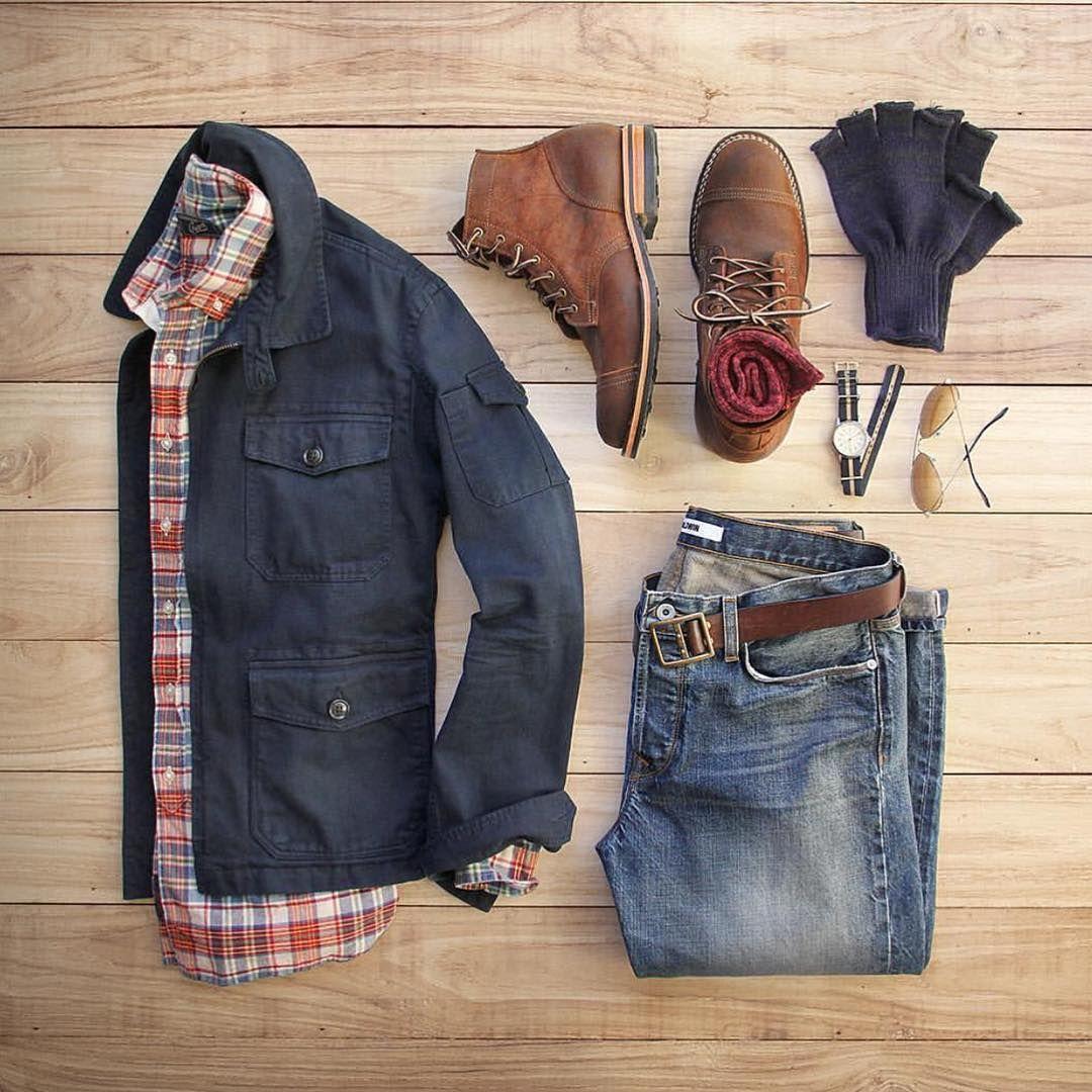 combinación #saco #ambo #azul #marron #rojo #camisa a cuadro