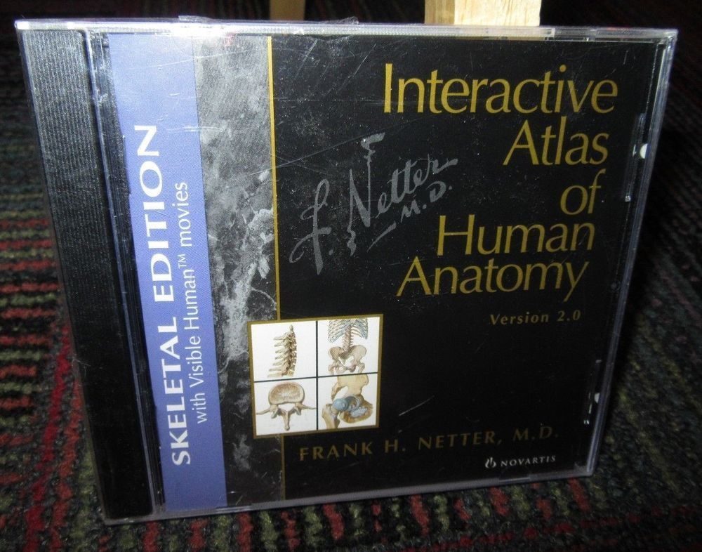 Interactive atlas of human anatomy: skeletal edition pc cd-rom ver ...