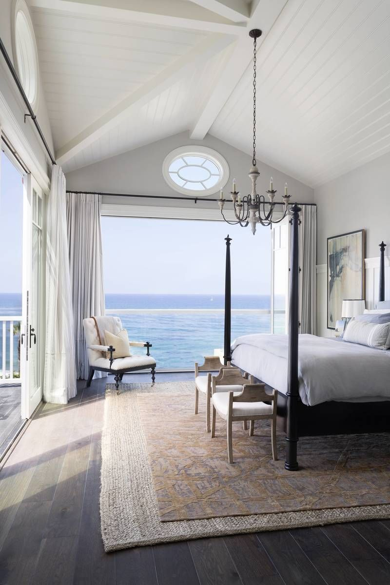 Coastal Bedroom in Dana Point CA by Brown Design Group Interiors