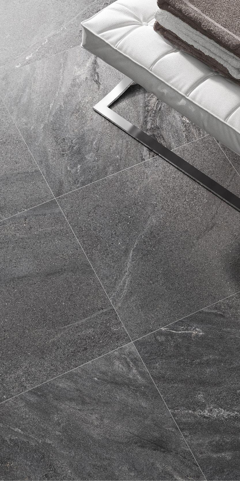 Aquarius Dark Floor Dark Floors Tile Bathroom Grey Flooring