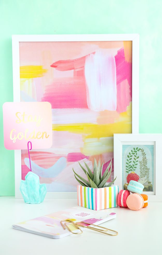 DIY Candy Striped Concrete Candles