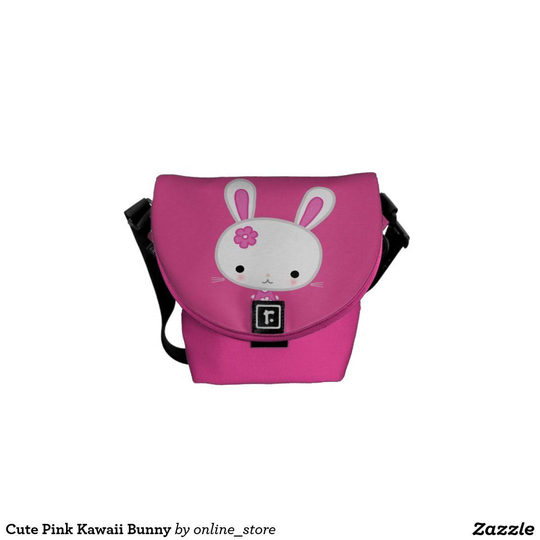 Cute Pink Kawaii Bunny Messenger Bag