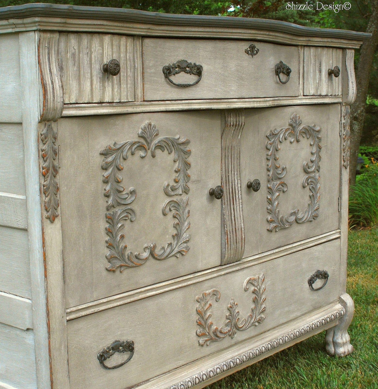 Cream Colored Buffet Really Like The Distressing On This Piece