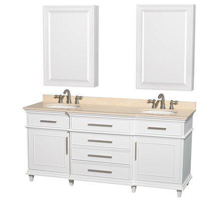 Wyndham Collection Berkeley 71 Double Bathroom Vanity Set With
