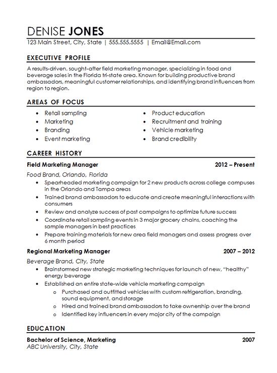 regional marketing resume example marketing resume resume