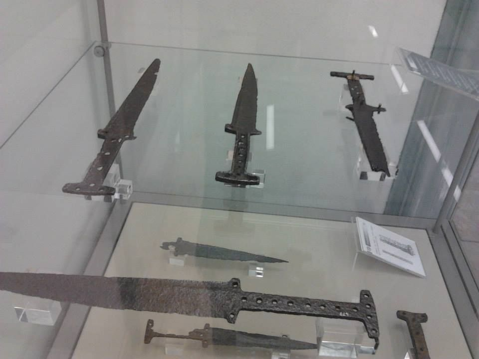 XIII Century baselards from Legnago museum, Italy