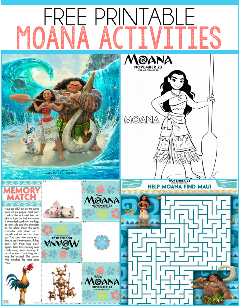 Free Moana Printables Coloring Pages Party Printables And More Birthday Party Games For Kids Moana Party Kids Party Games