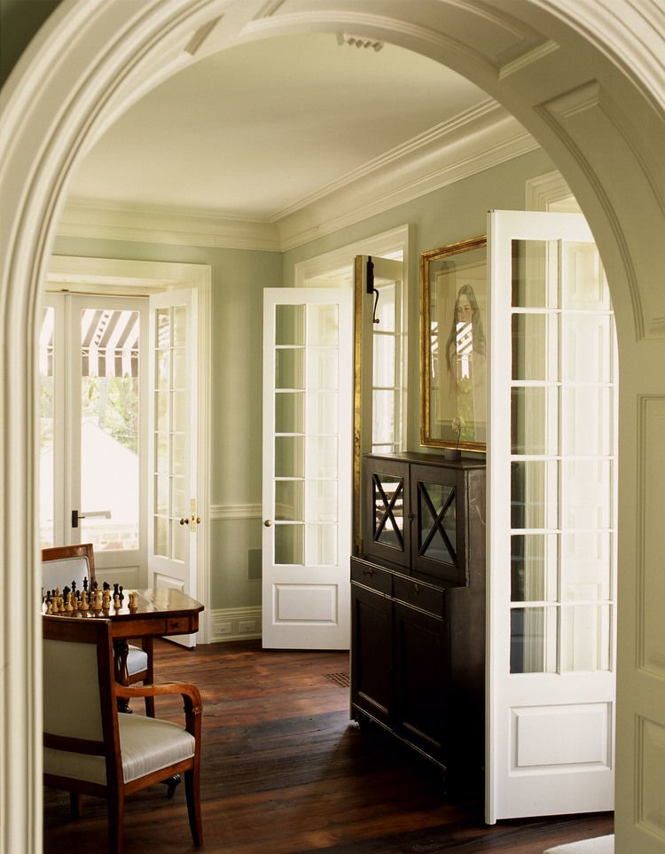 Arched doorway and double french doors moldings and - Doors for arched doorways ...
