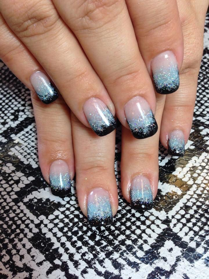 Ombré with black French ANC. Natural nails, no tips - Ombré With Black French ANC. Natural Nails, No Tips Nails Nails