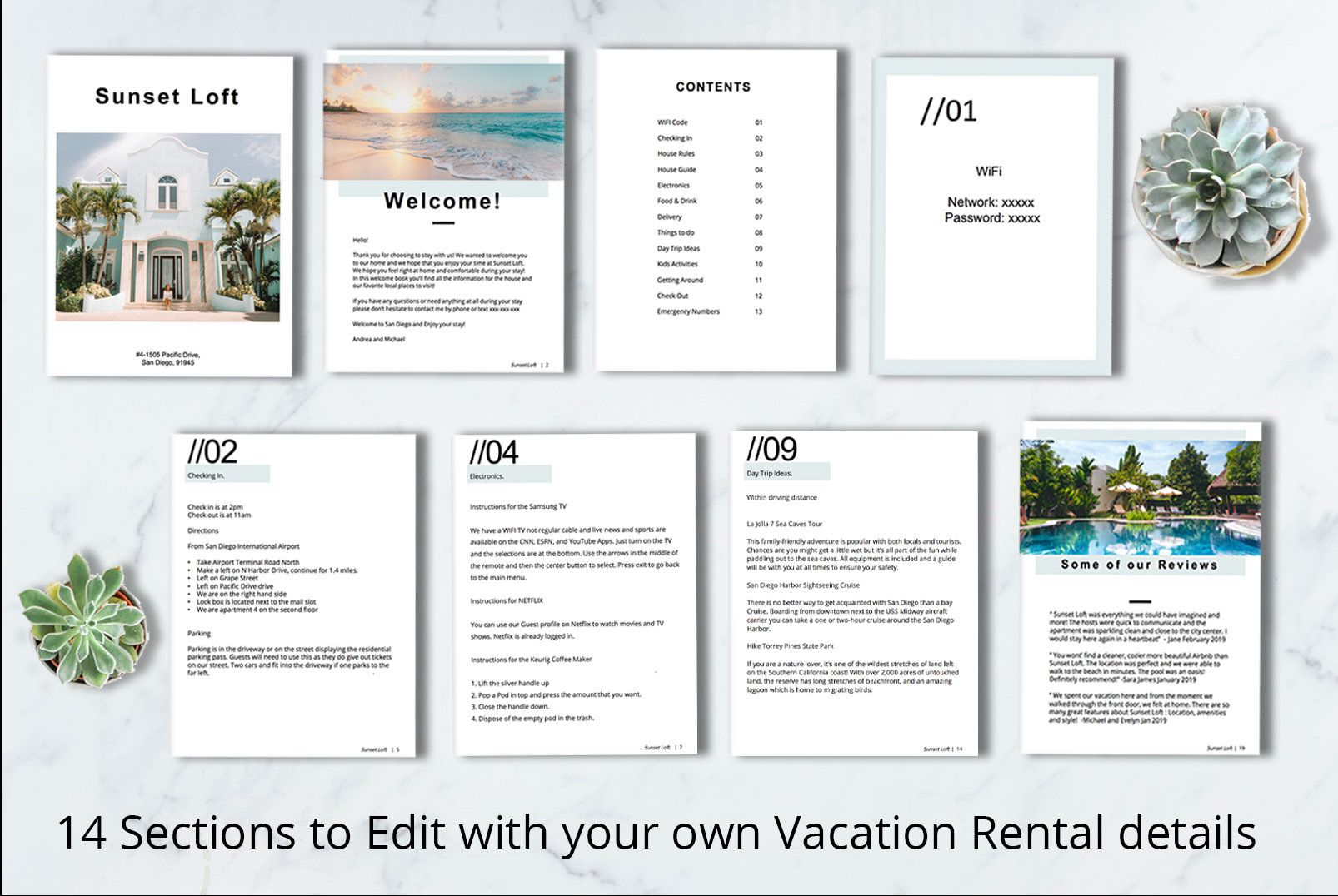Guest Book Vacation Rental Airbnb House Guide