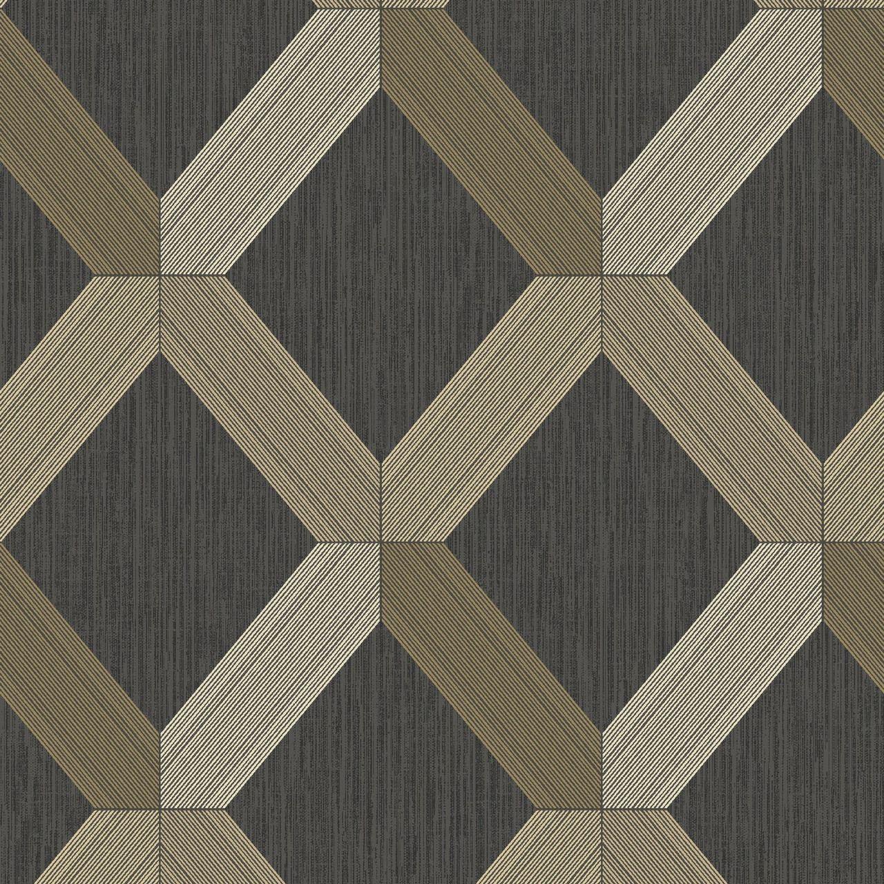 Lozenga Geometric Black Gold 75551 In 2020 Geometric Wallpaper Contemporary Wallpaper Albany Wallpaper