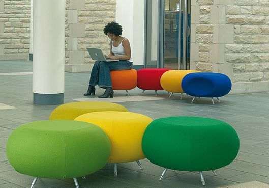Office Furniture With Colorful Chair To