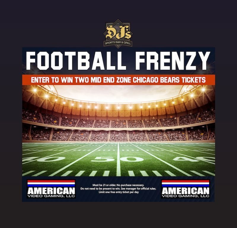 It S A Football Frenzy Enter To Win Two Chicago Bears Tickets To