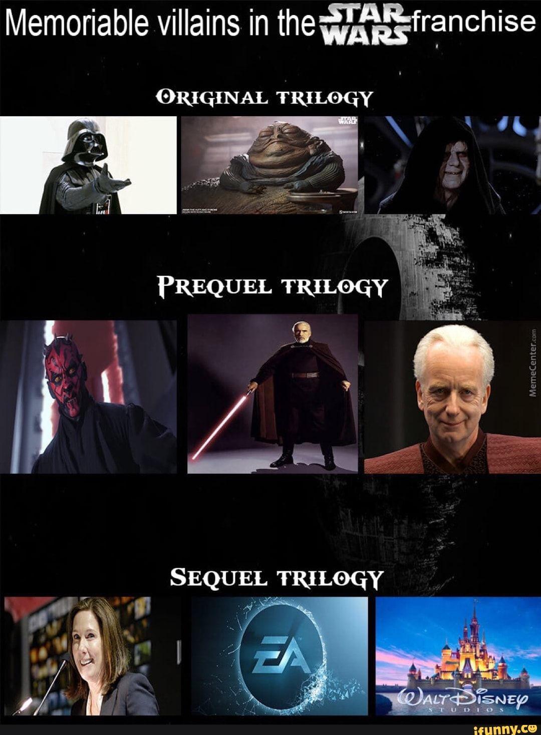 Memoriable Villains In Thewaaafranchise Original Trilogy Ifunny Star Wars Humor Star Wars Jokes Funny Star Wars Memes