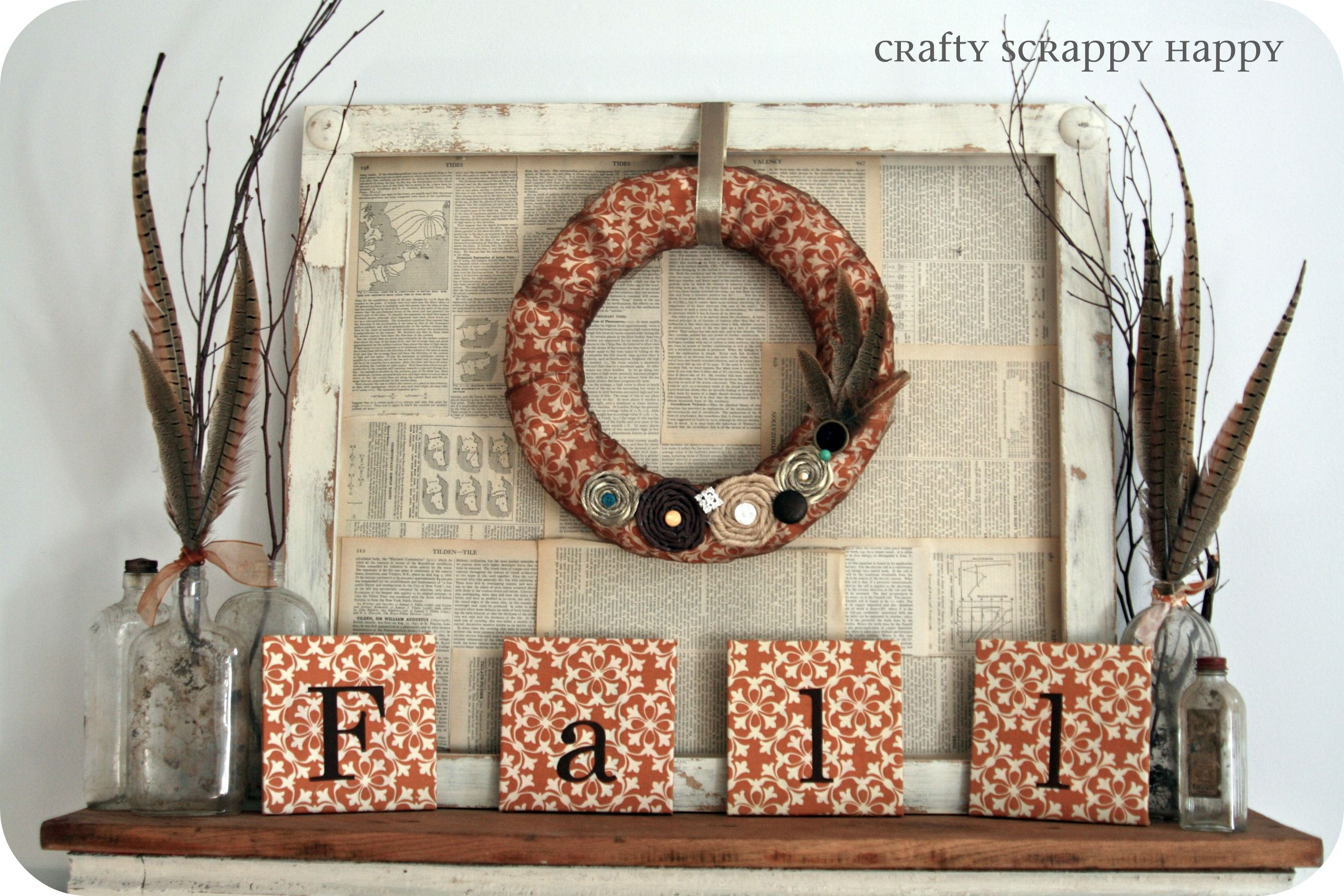 fall mantle by Crafty Scrappy Happy