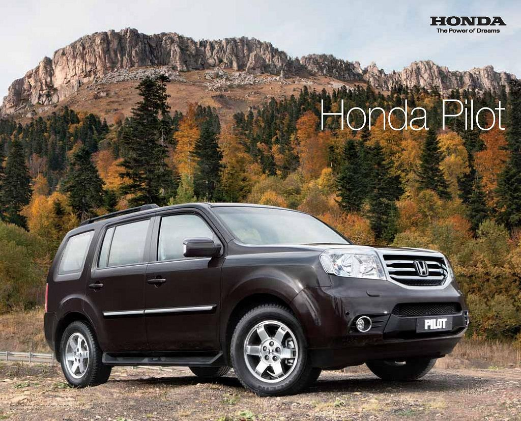 Honda Pilot Mk2 Ukraine Brochure 2013 Honda pilot, Honda