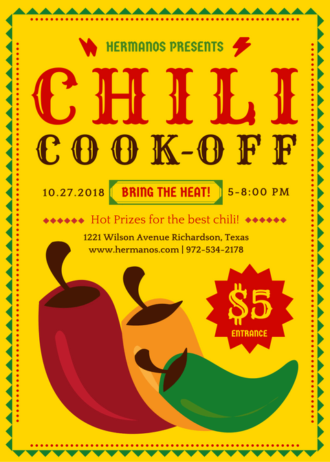 20 Bold Flyer Ideas Chili Cook Off Cook Off Cooking Classes Design