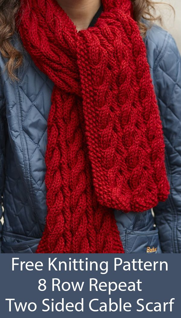 8 Row Repeat Scarf Knitting Patterns