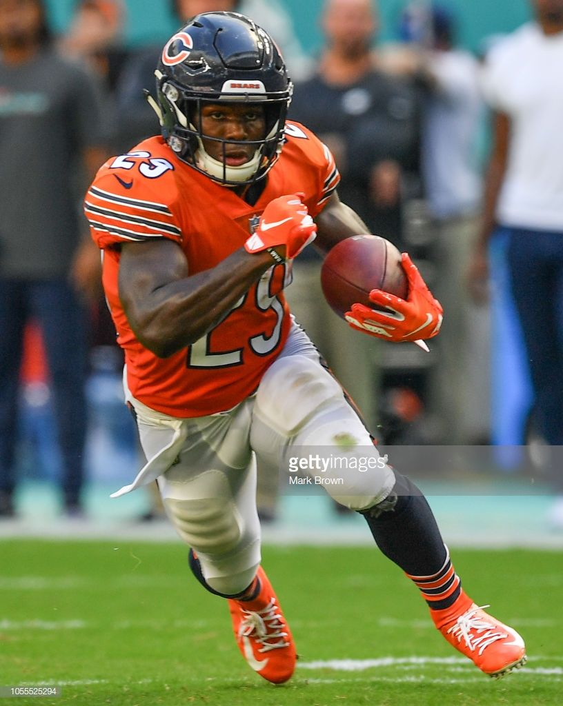 1bef28d9490 News Photo : Tarik Cohen of the Chicago Bears in  action...#AverageGuyExperience#NFL#Football#MiamiDolphine