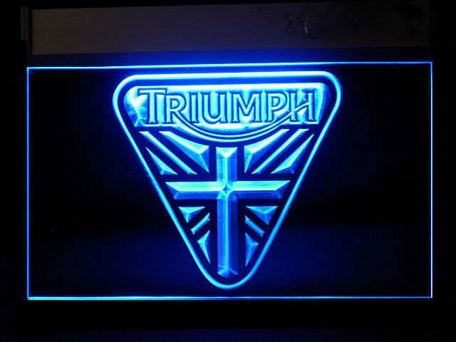 triumph union jack logo neon light sign | automotive & motorcycle