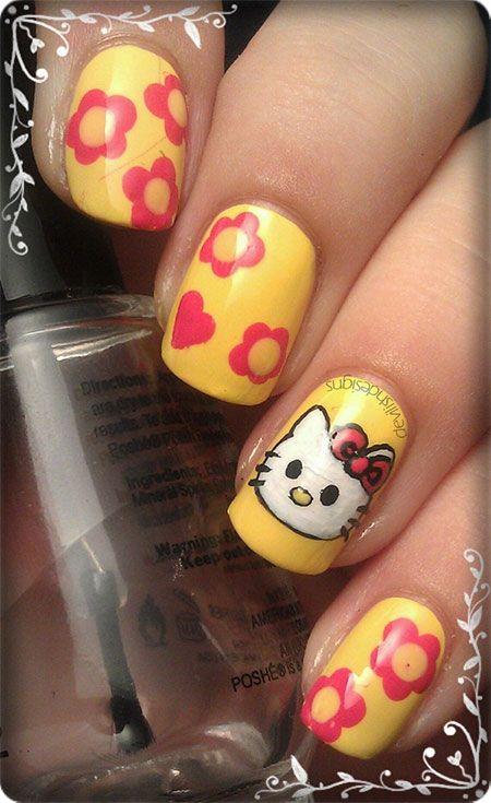Cute Hello Kitty Nail Art Designs Ideas 2013 2014 5 Cute Hello Kitty
