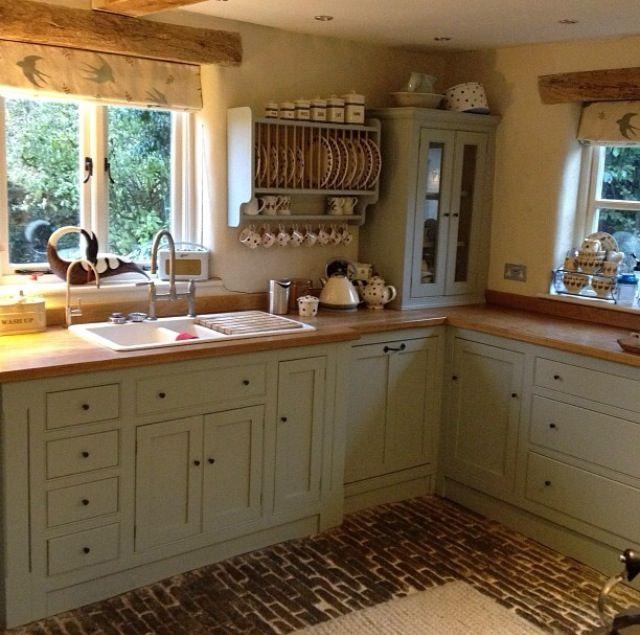 Country Kitchen Green Cabinets: Green Kitchen Cabinets, Kitchen
