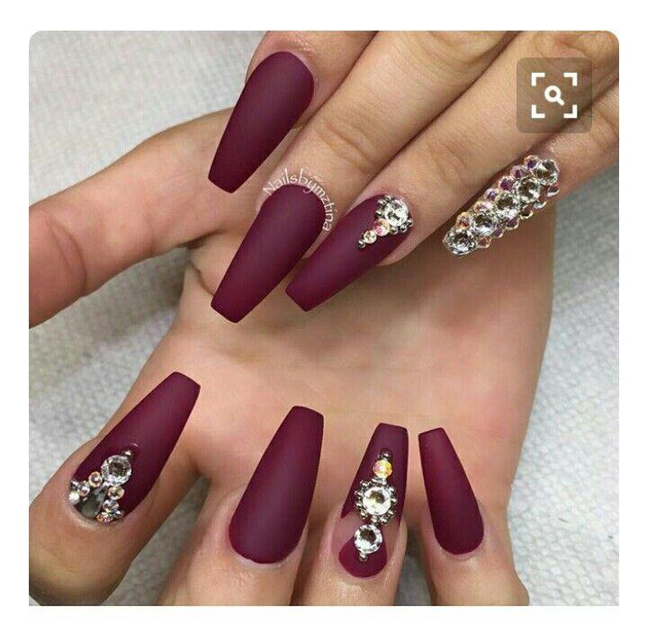 Pin de Edith Neblina en uñas guindas   Pinterest