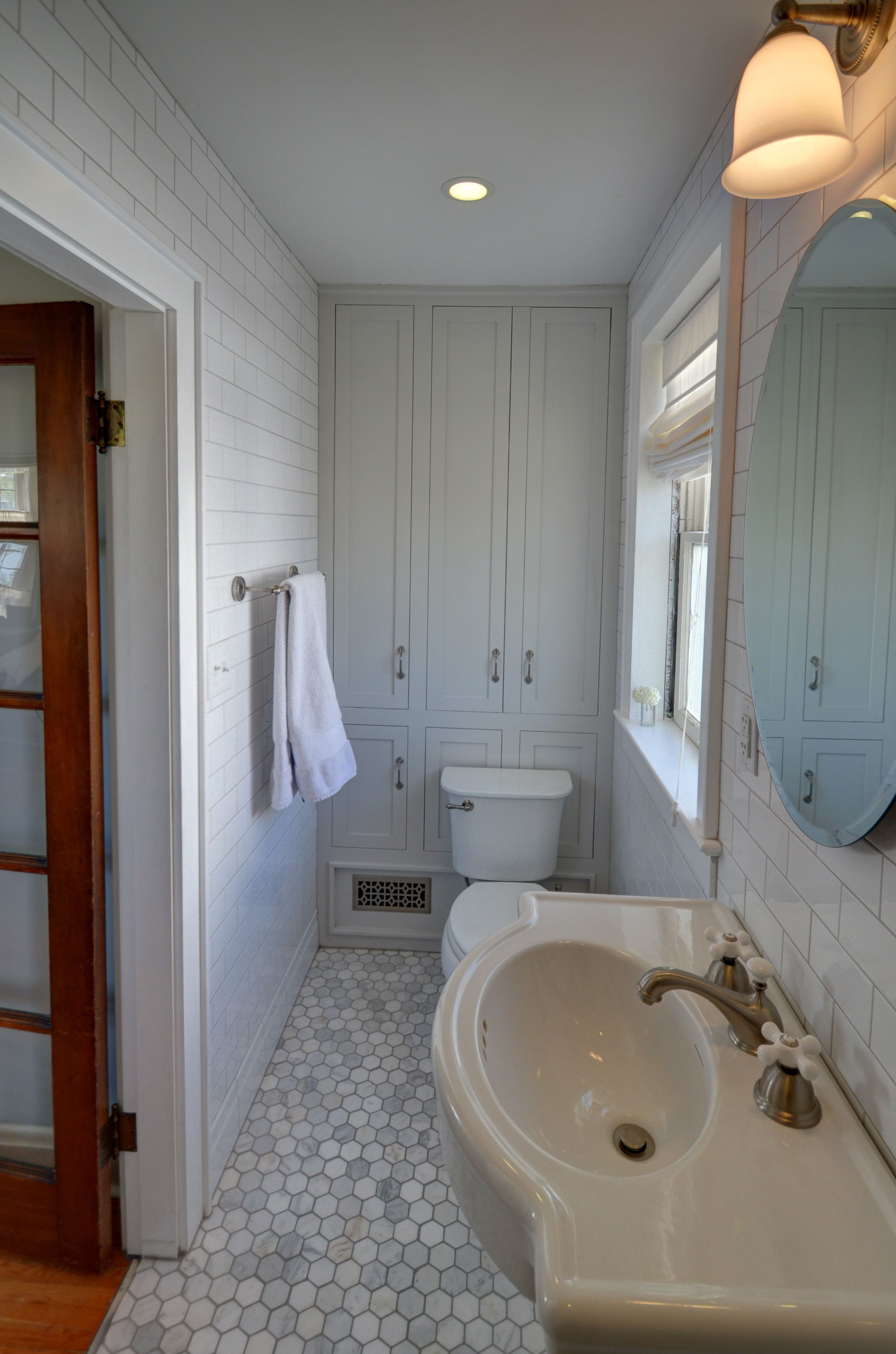 Built Ins Were Created Above A Sloped Floor And Are The Same Color