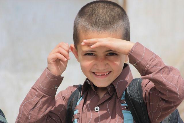 Foto de niño sonriente