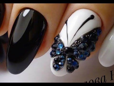 rhinestone nail art design ideas  new nail art designs