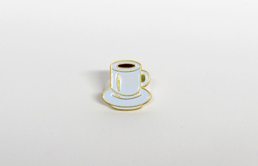 "Back in 2 weeks in limited quantities.  Act now!  ""You know, this is - excuse me - a damn fine cup of coffee. I've had I  can't tell you how many cups of coffee in my life and this, this is one of  the best.""  -Special Agent Dale Cooper  Think fondly of the Double R Diner when you wear this classic black coffee  pin that is inspired by Twin Peaks and the announcement of its return.  :):):):):):):):):):):)  Matches the cherry pie lapel pin I also made!  Ideal for Twin Peaks losers like…"
