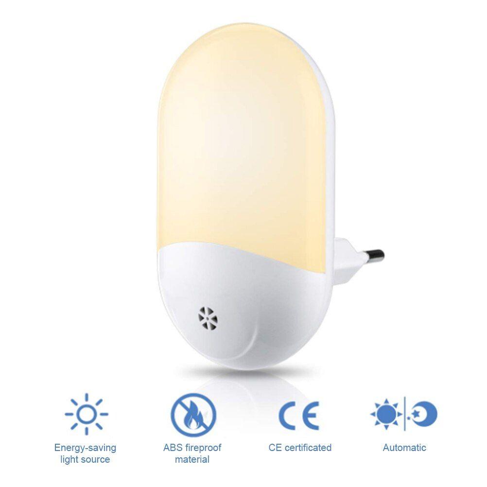 Lampara Nocturna Automatica Con Sensor Led Y Ahorro De Energia Lampara De Emergencia De Pared Activada Infrarroja Inalambrica Pir Con Enchufe Para Ue En 2020 Ahorro De Energia Led Enchufe
