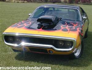 1971 72 Gtx Plymouth Muscle Car Nice Flames Musclecars Cars