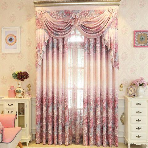 New Garden Korean Fresh Girl Room Curtains for Living Dining Room ...