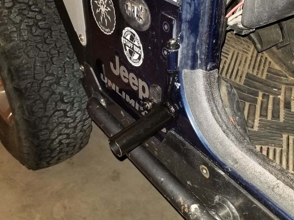 Jeep Foot Pegs Made From A Bicycle Brake Pad And Peg Bicycle