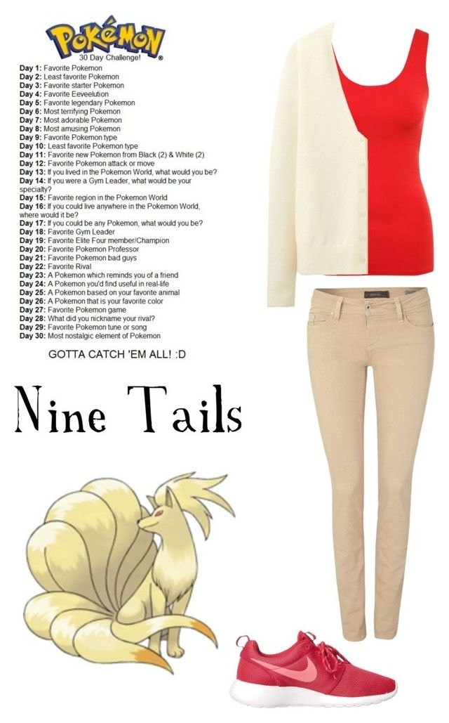 Day 1-Nine Tails-Pokemon 30 Day Challenge by thegivingtree on Polyvore featuring Uniqlo, Jane Norman, Salsa and NIKE