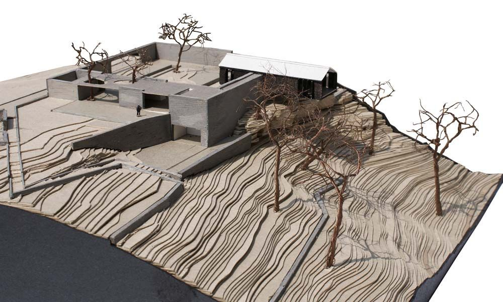 conceptual site model template - site model temenos house 1 200 cardboard balsa wood