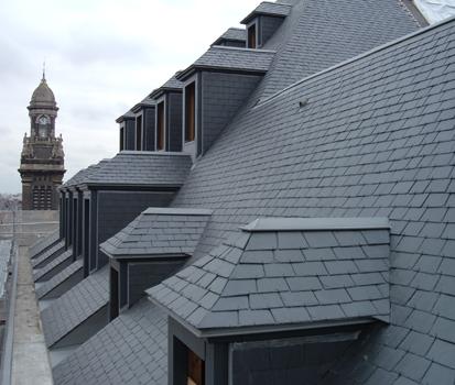 Ardoise naturelle CUPAPIZARRAS a été utilisée pour la transformation des grands magasins de Lille | #CUPAPIZARRAS #ardoise #toiture #magasin #Lille #architecture #design